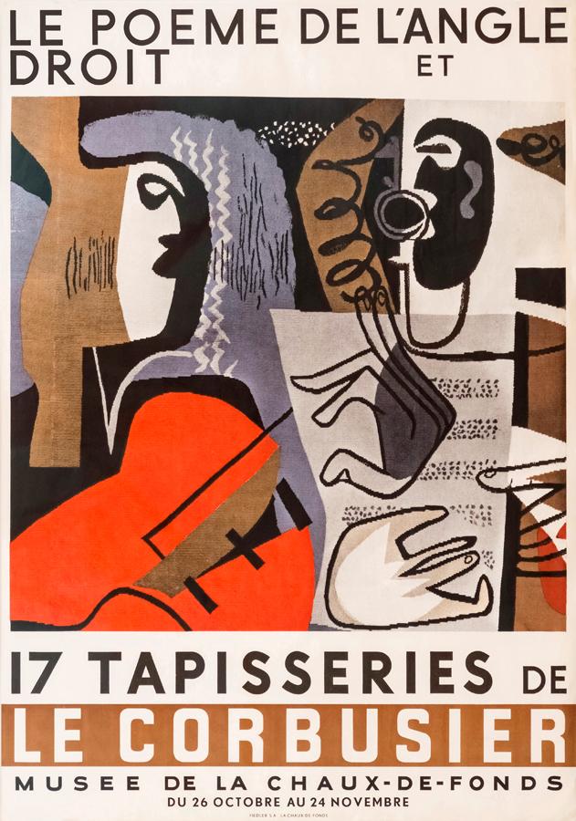 Original artist's poster by Le Corbusier: Le poème de l'angle droit, 1957