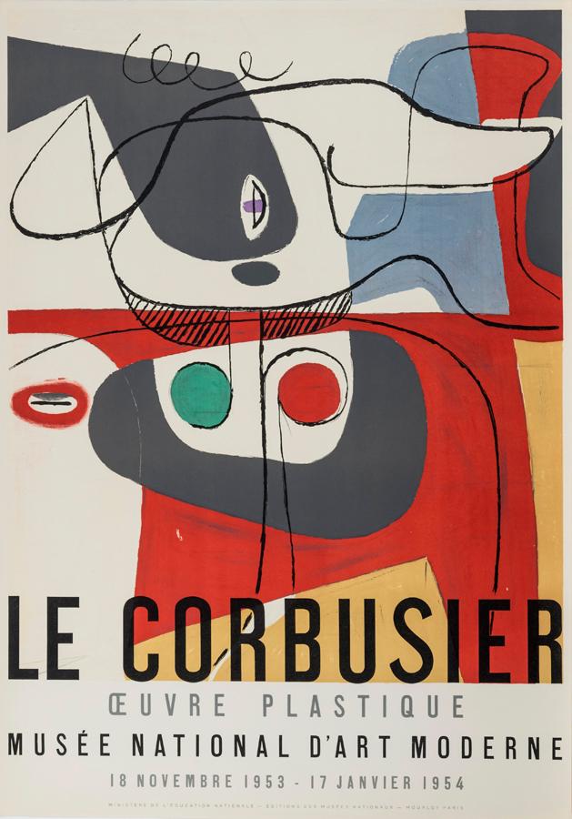 Original artist's poster Oeuvre plastique 1953