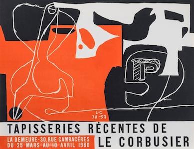 originales k nstlerplakat tapisseries r centes lithographie 1960 le corbusier der k nstler. Black Bedroom Furniture Sets. Home Design Ideas