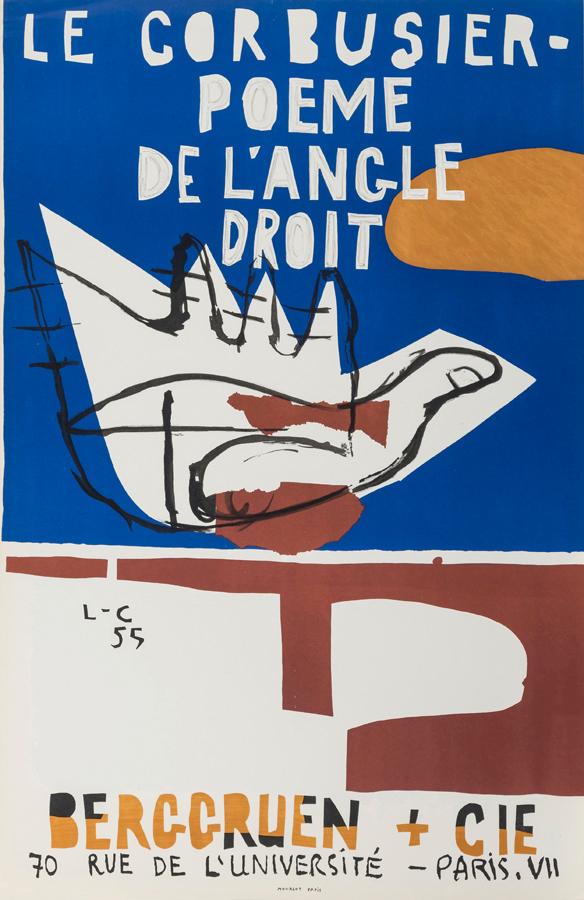 Original artist's poster Poème 1955