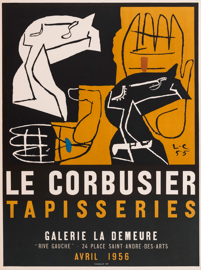 Original artist's poster Tapisseries 1956