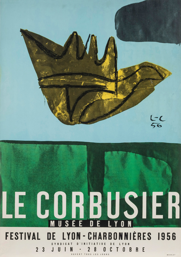 Original artist's poster Lyon 1956