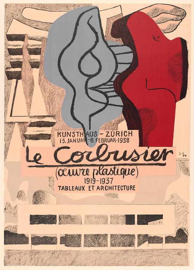 Original artist's poster Oeuvre Plastique 1938