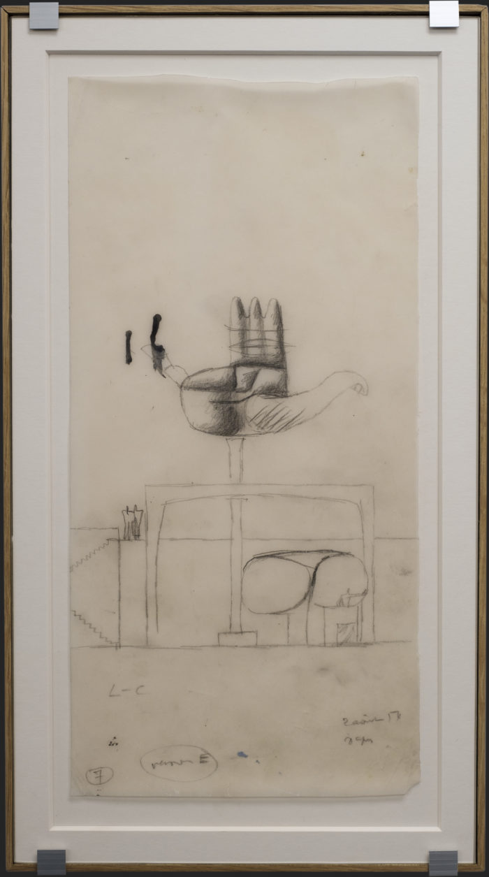 Sketch for LC's monument in Chandigarh