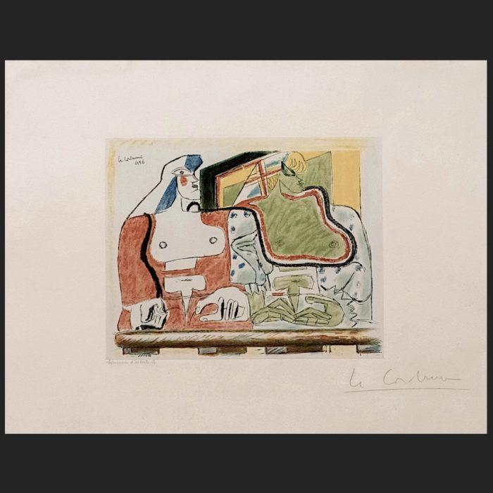 Le Corbusier | Deux femmes à la balustrade | art-LC