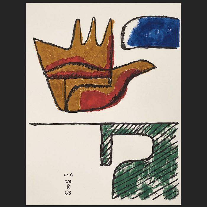 Le Corbusier | La main ouverte 1963 | art-LC