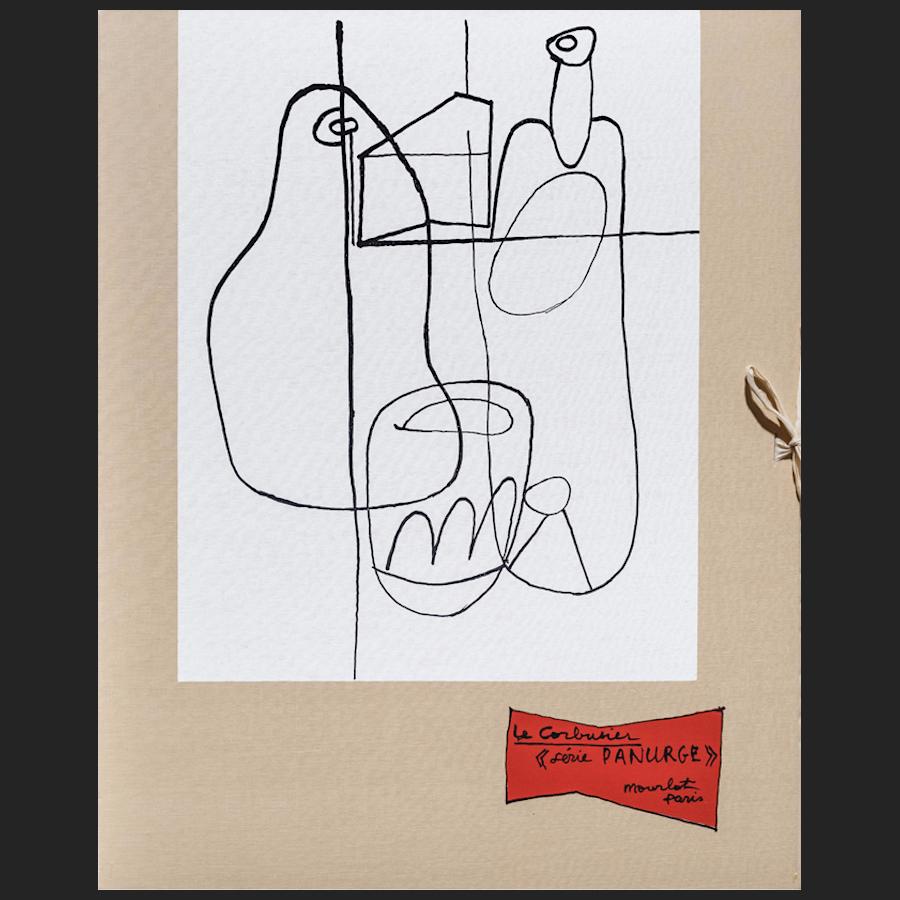 le corbusier der k nstler leinenmappe des portfolios panurge 1962. Black Bedroom Furniture Sets. Home Design Ideas
