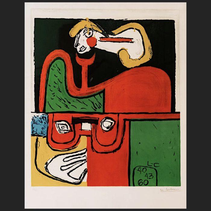 Le Corbusier | Portrait hand-signed | art-LC