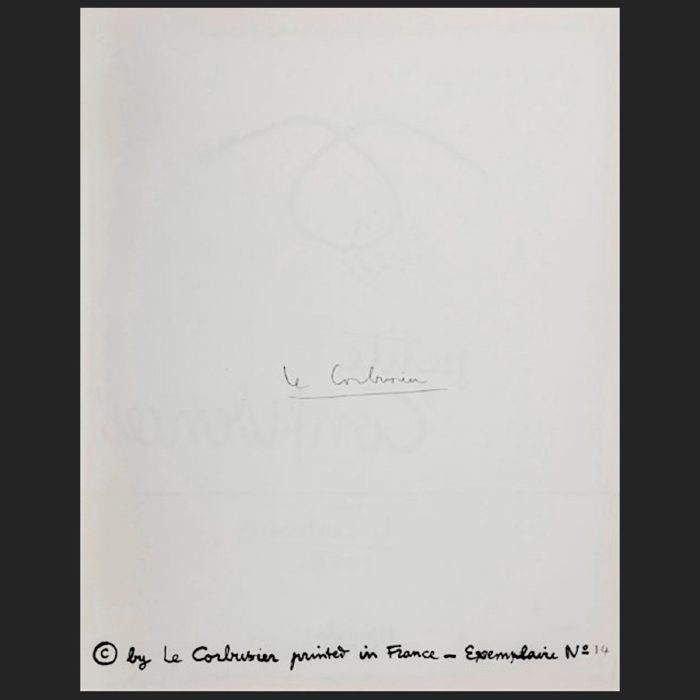 Le Corbusier | Portfolio Petite Confidences Title verso hand-signed | art-LC