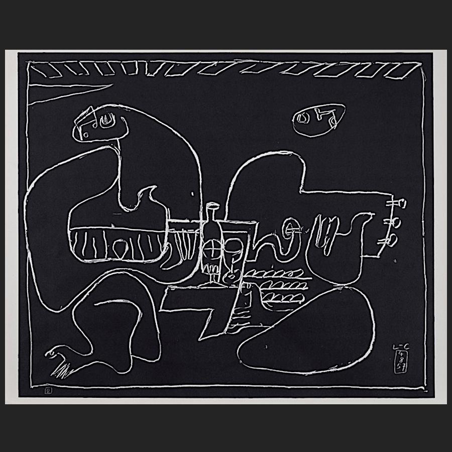 blatt nr 2 des portfolios petite confidences lithographie 1960 le corbusier der k nstler. Black Bedroom Furniture Sets. Home Design Ideas