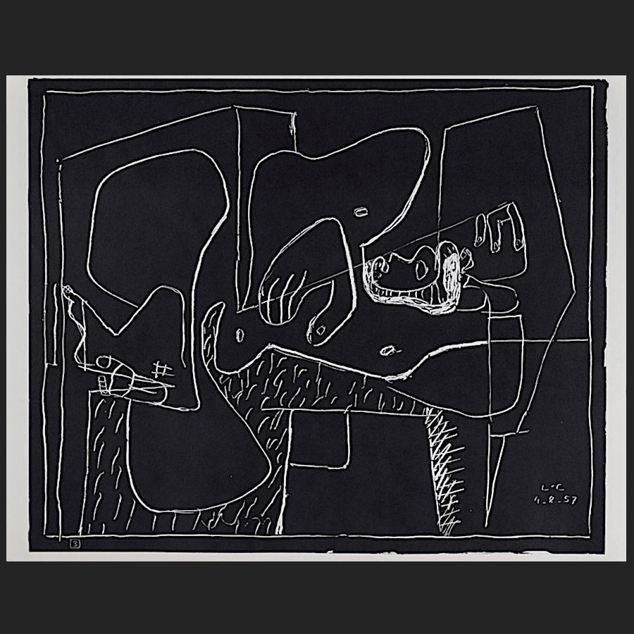 blatt nr 3 des portfolios petite confidences lithographie 1960 le corbusier der k nstler. Black Bedroom Furniture Sets. Home Design Ideas