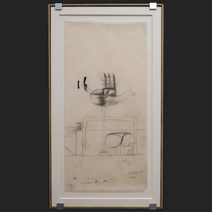 Le Corbusier | Sketch La main ouverte Chandigarh | art-LC
